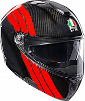 AGV Sportmodular Stripes, flip up helmet
