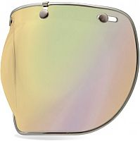 Bell Custom 500 Iridium, bubble visor mirrored
