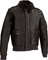 Segura Tucker, leather jacket