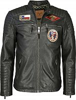 Top Gun Beef, leather jacket