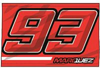 GP-Racing Apparel Marc Marquez 93, flag