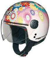 Grex DJ1 City Artwork white/pink, jet helmet