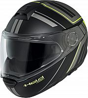 Held by Schuberth H-C4 Tour Dekor, flip up helmet