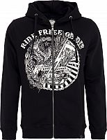 King Kerosin Ride Free Or Die, zip hoodie