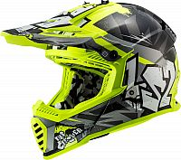 LS2 MX437J Fast Evo Crusher, cross helmet kids