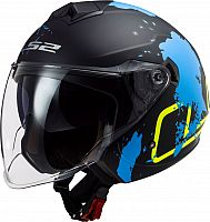 LS2 OF573 Twister II Xover, jet helmet