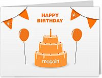 Motoin gift card 25€ for non Europe customers, print at home