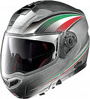 Nolan N104 Absolute Italy Scratched Chrome, flip up helmet