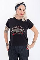Queen Kerosin Wild & Free Rose, t-shirt women