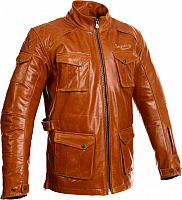 Segura Moore, leather jacket