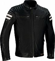Segura Stripe, leather jacket perforated