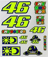 VR46 Racing Apparel Classic 46/Sole E Luna, sticker set