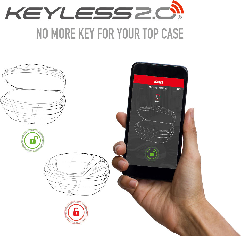 Givi E174 Keyless 2.0, Fernbedienung - Original