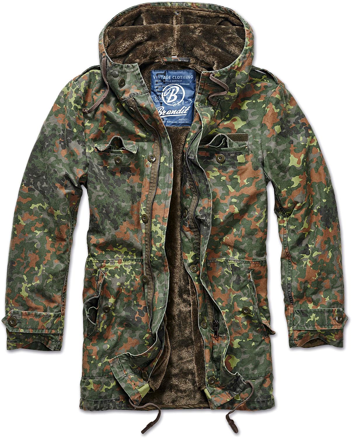 Brandit BW Parka, Textiljacke - Flecktarn - L 3137-14-L