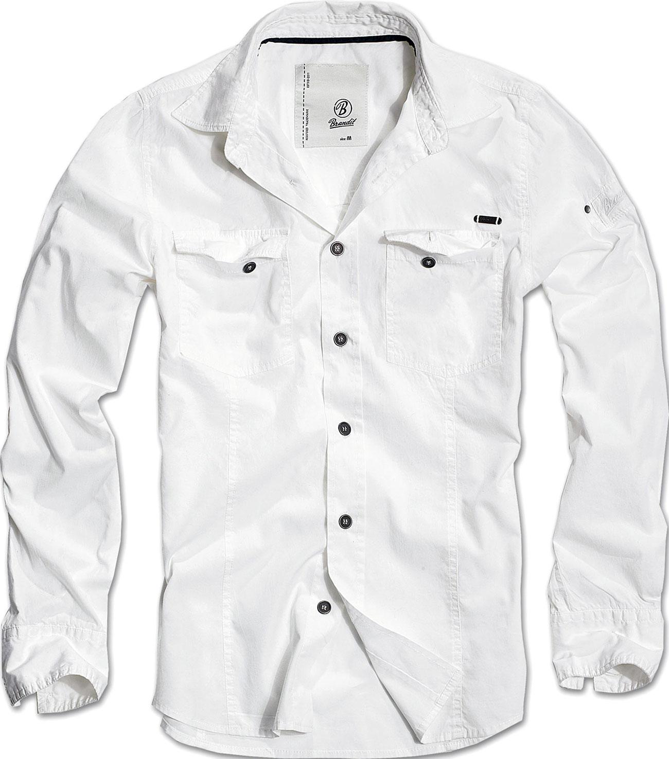 Brandit Slimfit, Hemd - Weiß - M 4005-7-M