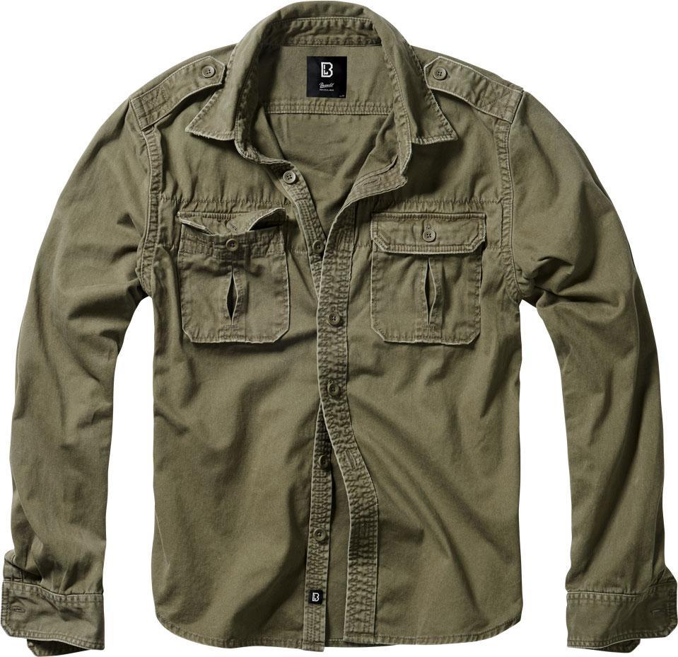 Brandit Vintage, Hemd - Oliv - 6XL 9373-1-6XL