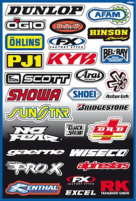 Büse 314, Sponsor Sticker Kit A - 314 A 314-A