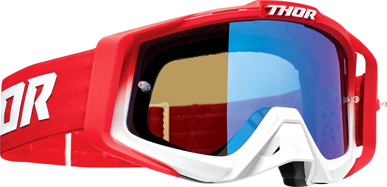 Thor Sniper Pro Fader S20, Crossbrille verspiegelt - Rot/Weiß Blau-Verspiegelt 26012575