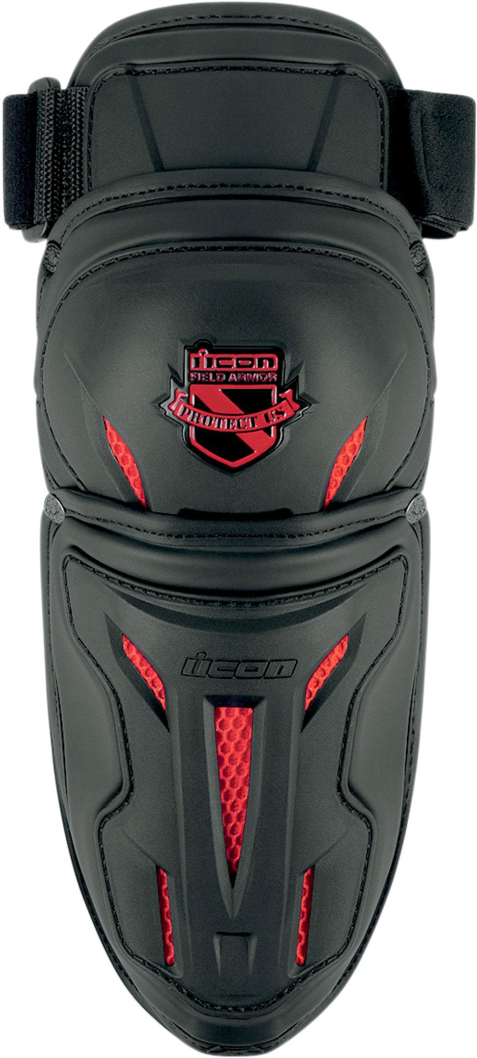 Icon Stryker, Ellbogenprotektoren - Schwarz/Rot - S/M 27060135