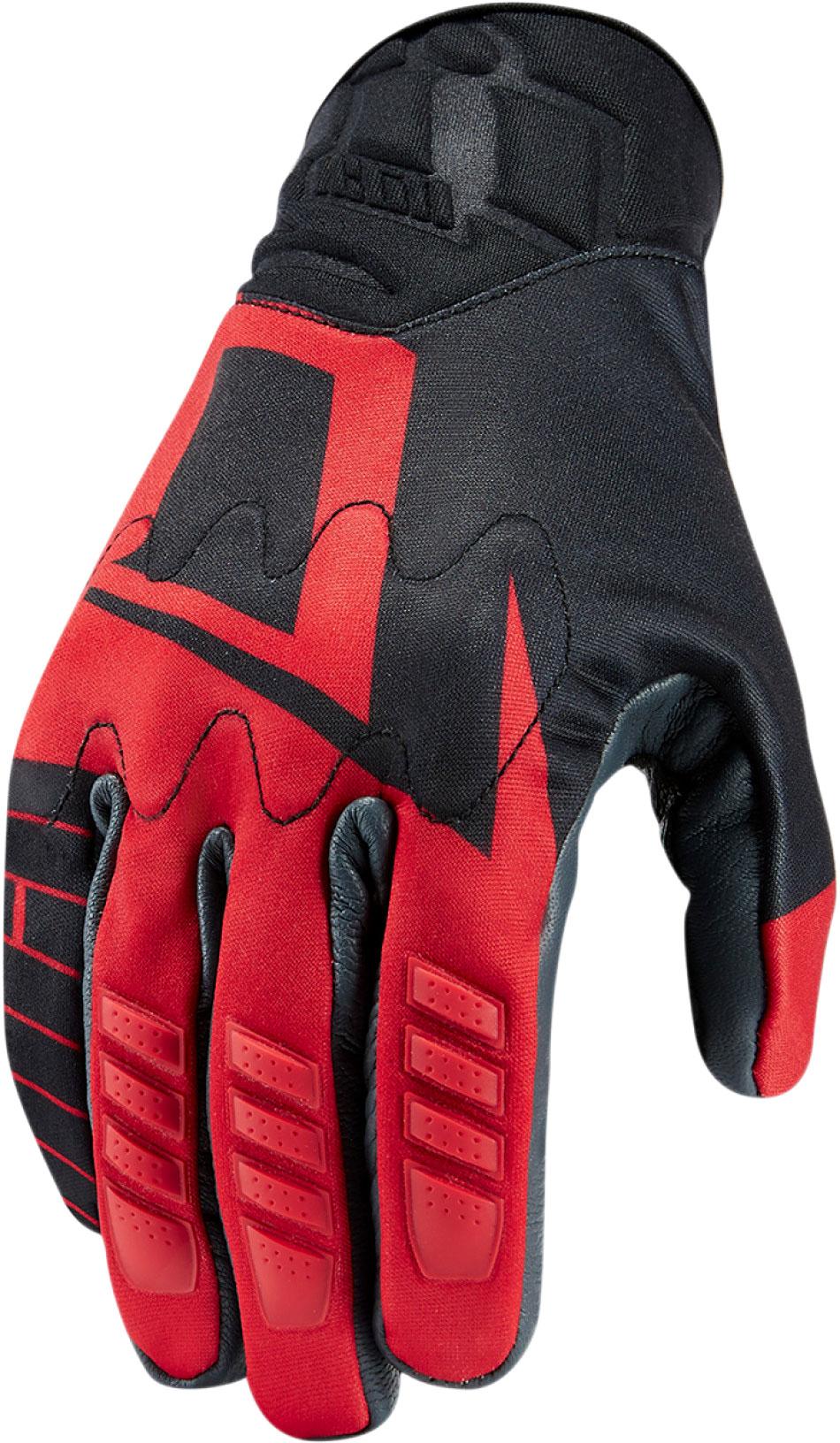 Icon Wireform, Handschuhe - Schwarz/Rot - S 33012774