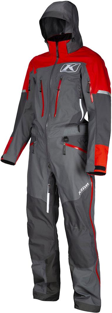 Klim Lochsa S20, Textilanzug 1tlg. - Grau/Rot - S 3262-002-120-600