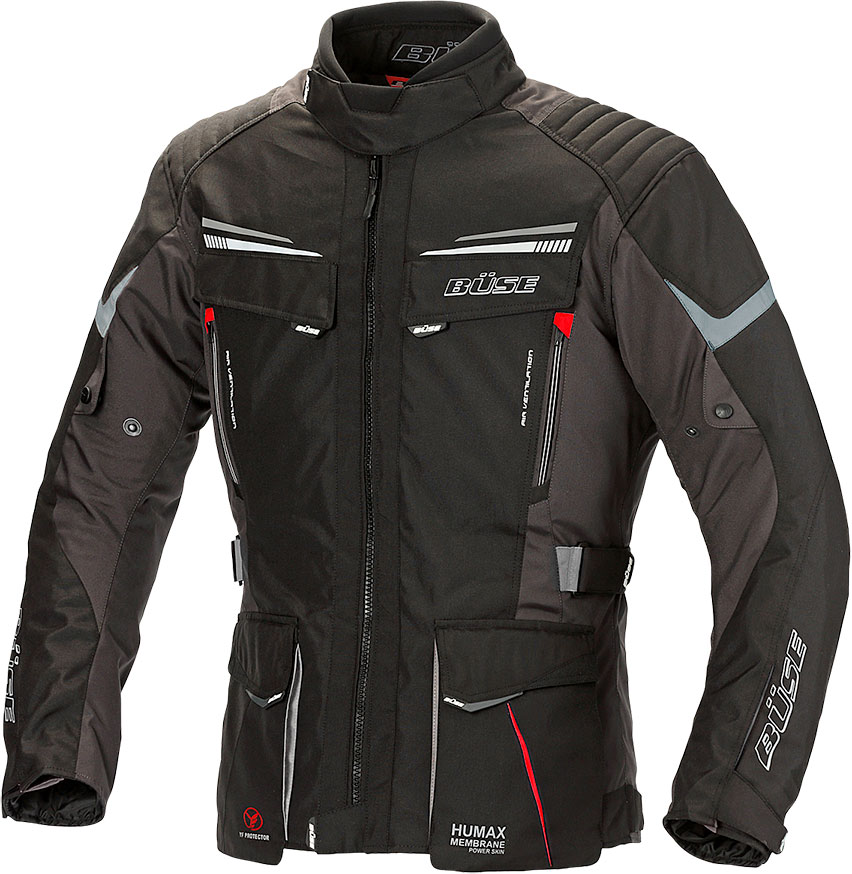 Büse Lago Pro, Textiljacke - Schwarz - 10XL 116730-XXXXXXXXXXL