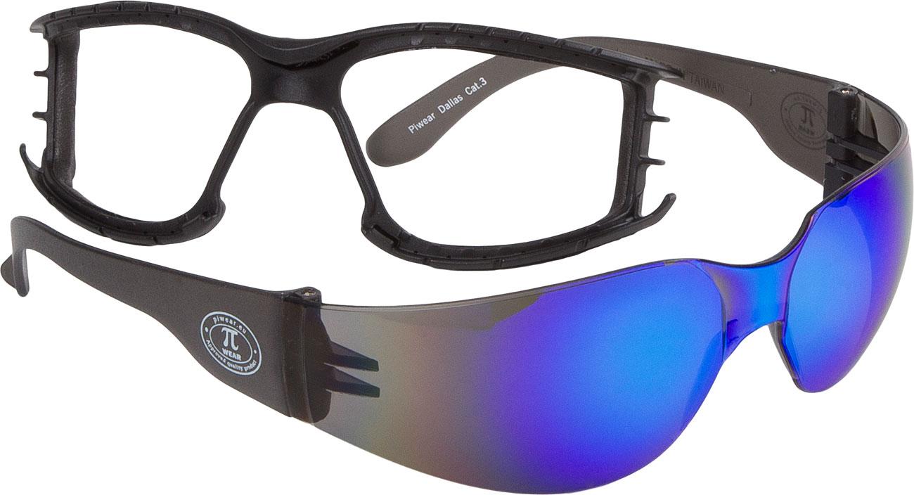 Modeka Dallas Plus, Brille - Blau-Verspiegelt 115833-811-Stck