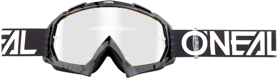 ONeal B-10 S18 Pixel, Crossbrille - Schwarz/Weiß Klar 6024-304O