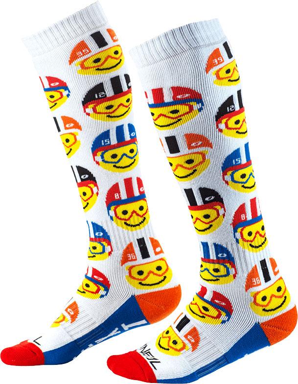 ONeal Pro MX Emoji Racer S20, Socken lang - Weiß/Gelb/Rot - Einheitsgröße 0356-765