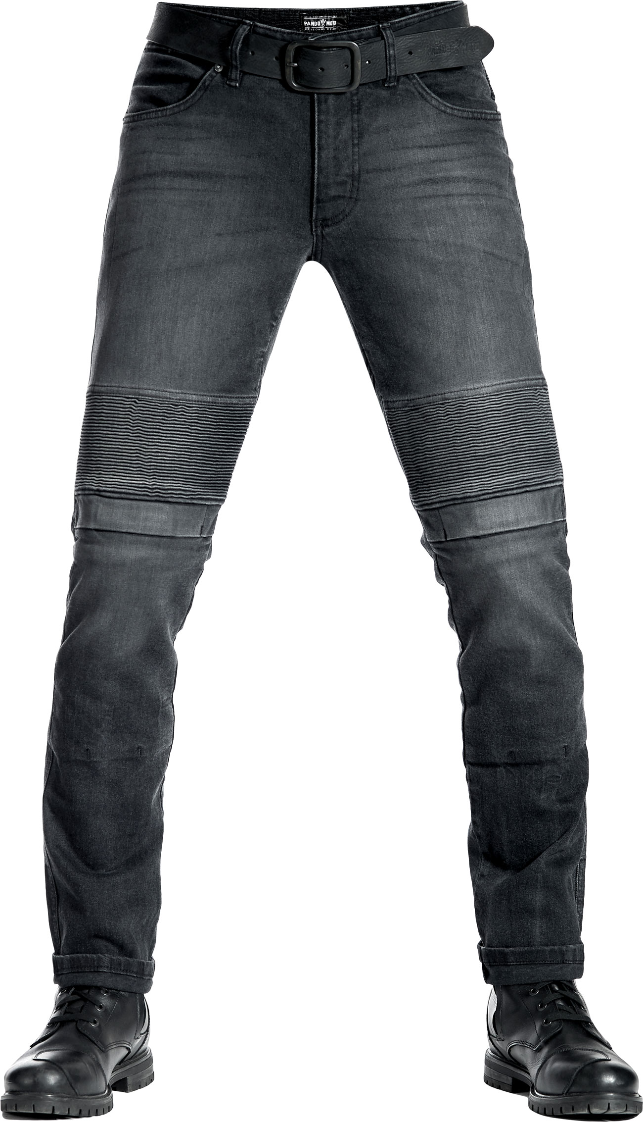 Pando Moto Karl Devil 9, Jeans - Dunkelgrau - W34/L34 PM-19-Karl-Devil-1-W34-