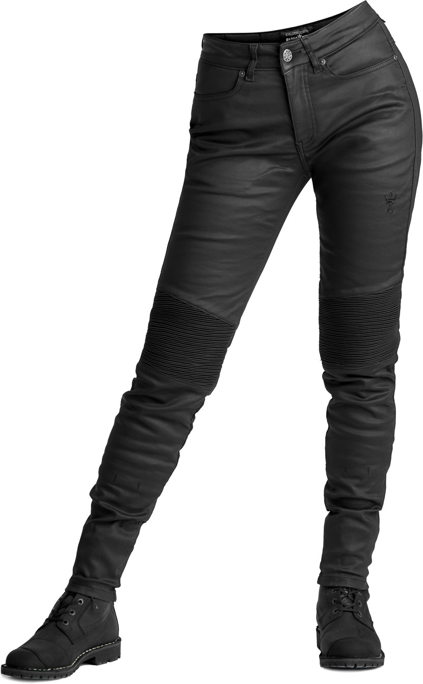 Pando Moto Kusari Kev 02, Jeans Damen - Schwarz - W28/L32 Kusari-Kev-02-W28-L32
