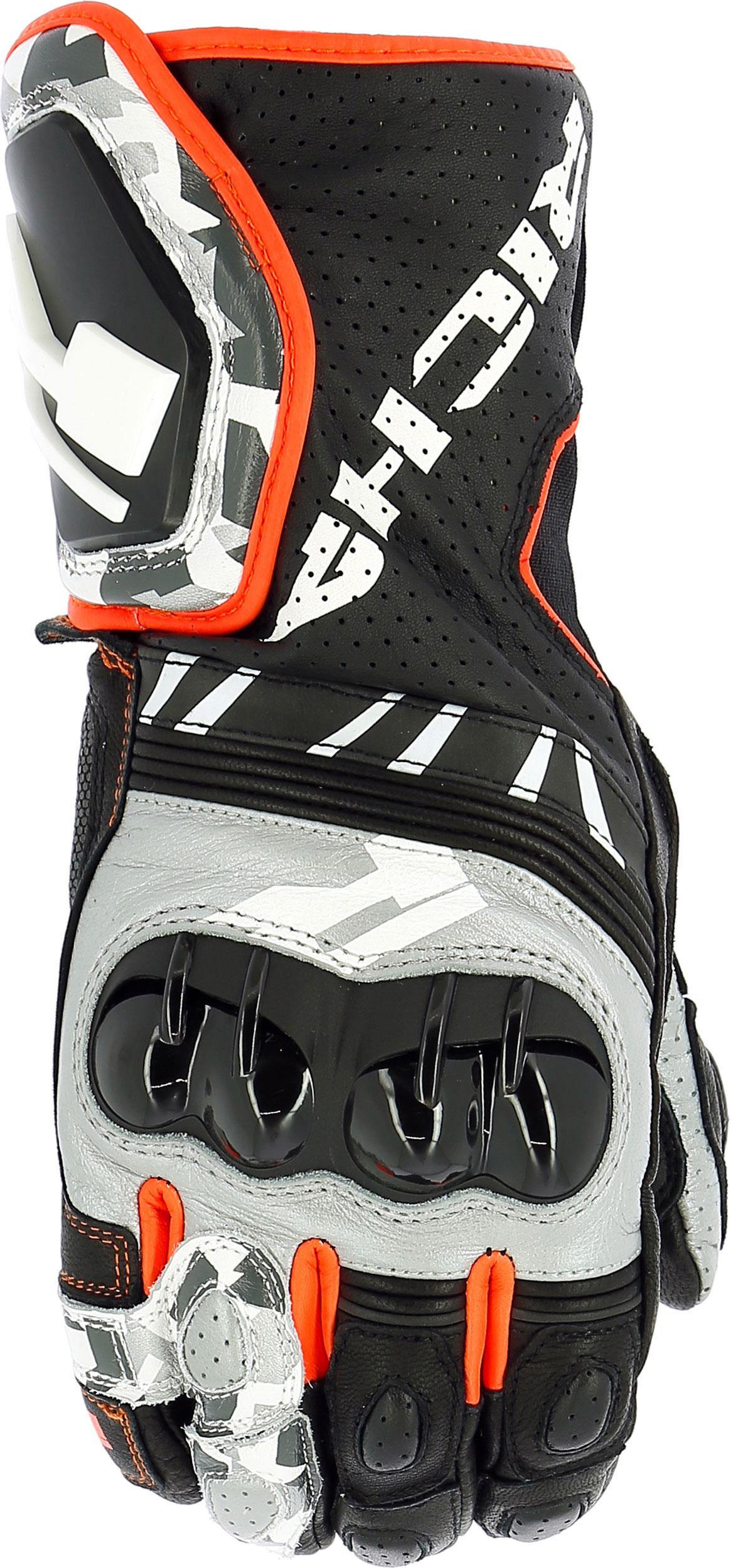 Richa R-Pro Racing, Handschuhe - Grau/Neon-Rot - XL 5RPRO-920-XL