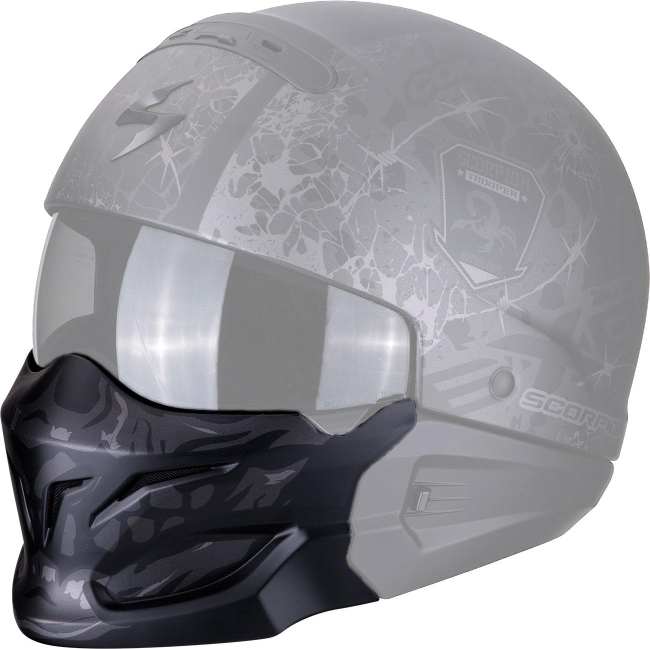 Scorpion EXO-Combat Skull, Maske - Dunkelsilber 99-934-013