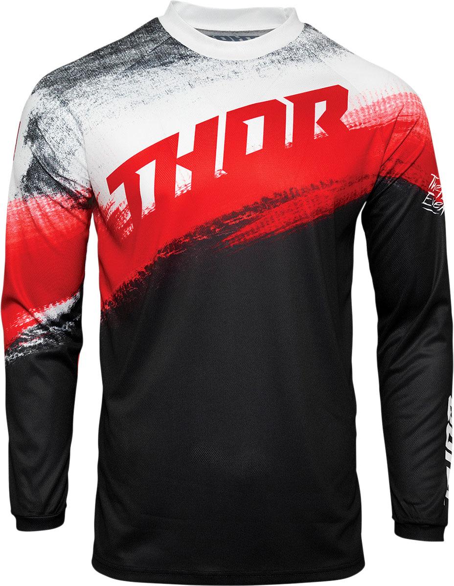 Thor Sector S21 Vapor, Trikot - Schwarz/Rot/Weiß - M 29106141