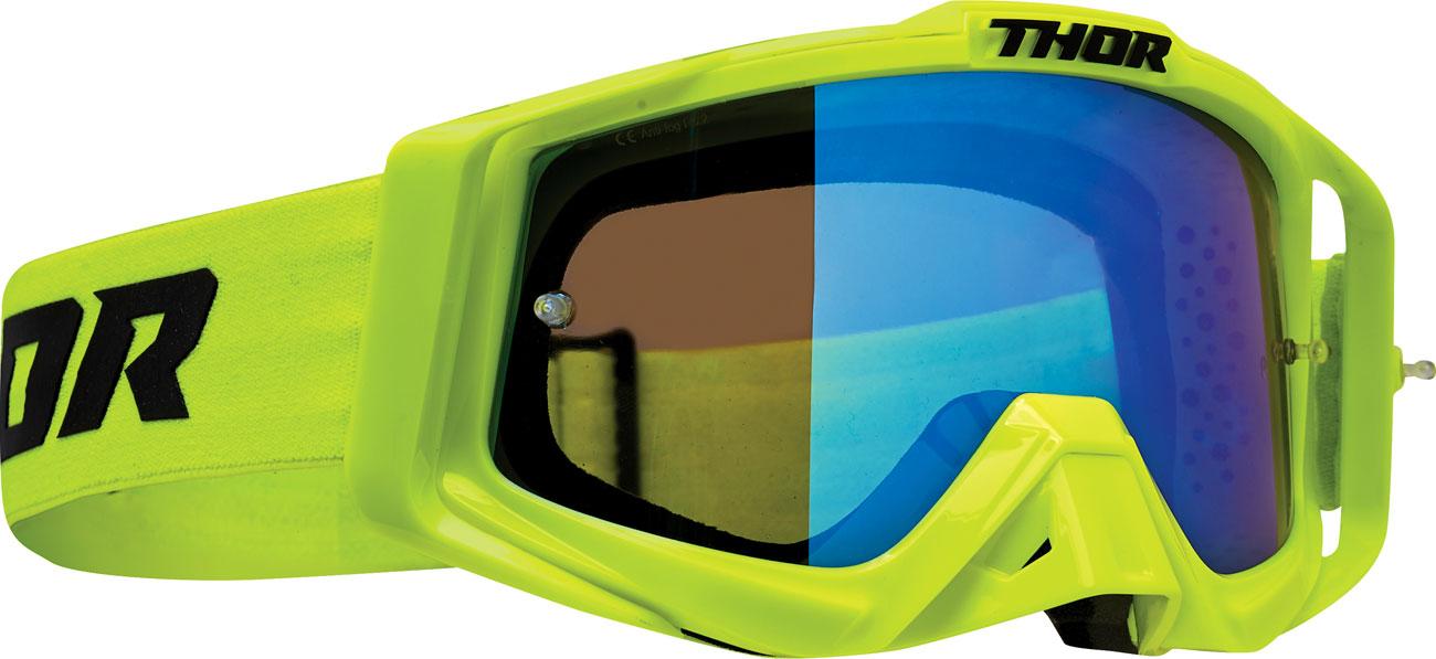 Thor Sniper Pro Solid S20, Crossbrille verspiegelt - Neon-Grün/Blau Blau-Verspiegelt 26012572