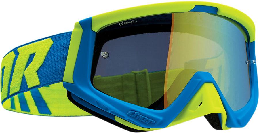 Thor Sniper S20, Crossbrille Verspiegelt - Blau/Neon-Grün Grün-Verspiegelt 26012714