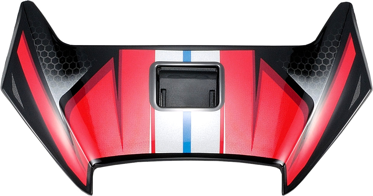 Shoei X-Spirit III Aerodyne, Lüftungsschieber - Rot/Schwarz/Grau 18.08.447.0