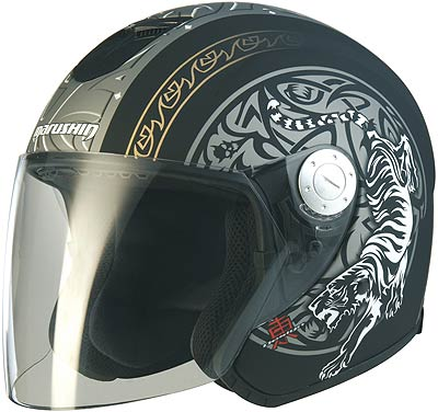 Image For Marushin C147 TIGER Jet-Helmet, Flat Black