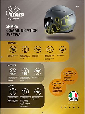 AGV Rear Share VI Easy, sistema de comunicación
