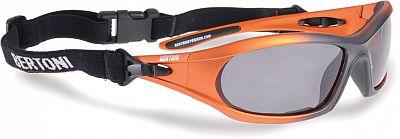 Bertoni P114B, lunettes de soleil polarisées Orange/Noir Net Taille unique