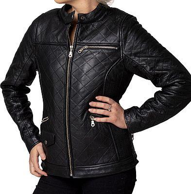 Blackbird Chelsea Quilted, chaqueta de cuero mujeres