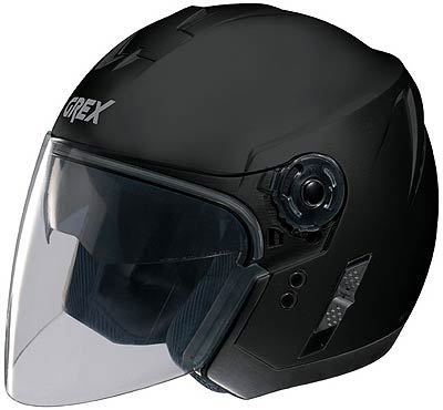 Image For Grex-J2-Club-matt-black-jet-helmet
