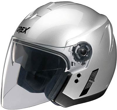 Image For Grex-J2-Club-silver-jet-helmet