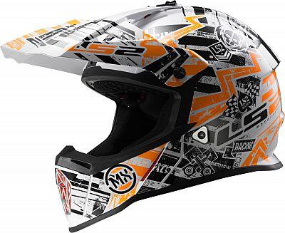 LS2 MX437 Fast Mini Glitch, cross helmet kids