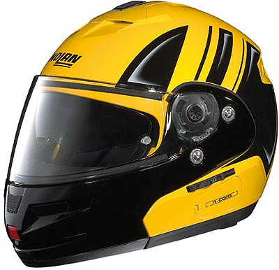 Image For Nolan N103 MOTORRAD, black-yellow