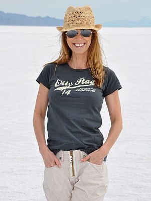 Oily Rag Clothing Bonneville Racing, camiseta mujeres