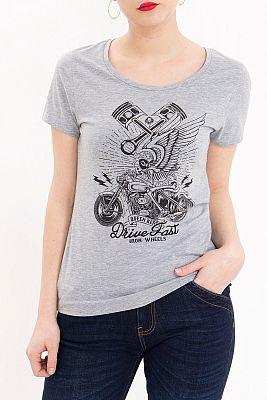Queen Kerosin Drive Fast, camiseta mujer