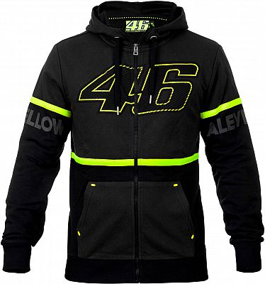 VR46 Racing Apparel 46 Fleece, Sudadera con capucha zip
