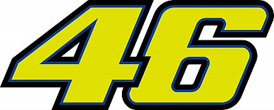 VR46-Racing-Apparel-Classic-46-Moto-etiqueta-engomada