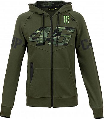 VR46 Racing Apparel Monster Dual Camp, Sudadera con capucha zip